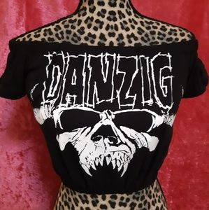 Danzig Metal Girls/Ladies Crop Top sz. Small